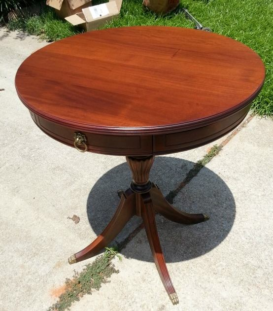 Restored water damaged table