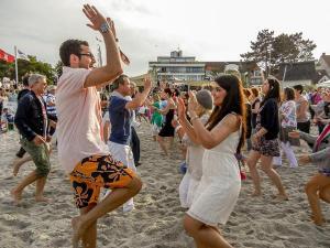 07.06.2014 Salsa am Strand in Scharbeutz - Fun