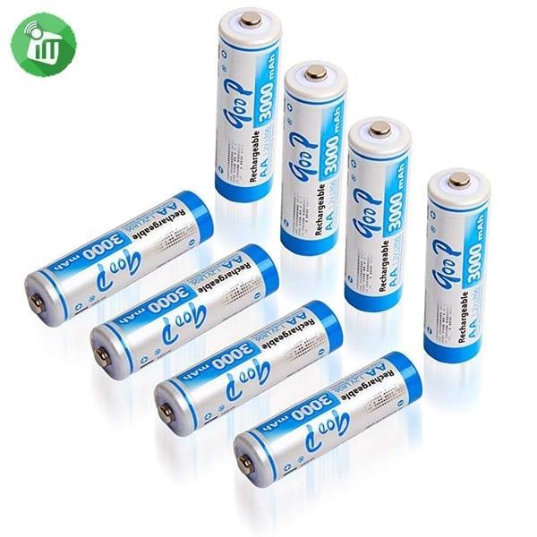 qoop Super Alkaline 4PCS AA Rechargeable Battery 3000mAh - 1.2V