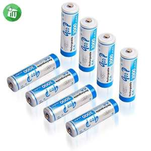 qoop Super Alkaline 4PCS AA Rechargeable Battery 3000mAh - 1.2V