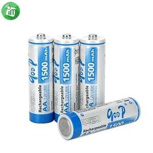 qoop Super Alkaline 4PCS AA Rechargeable Battery 1500mAh - 1.2V