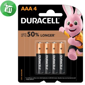 Duracell Plus Power AAA Batteries 1.5V 4PCS