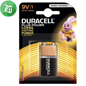 Duracell Plus Power Size 9V Batteries 1PCS