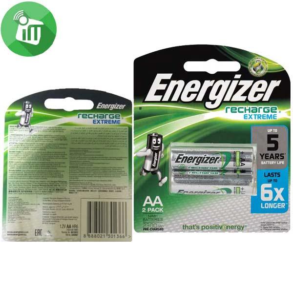Energizer 2PCS AA Recharge Extreme Batteries 2300mAh