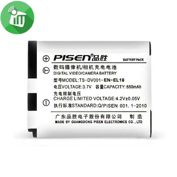 Pisen EN-EL19 Camera Battery Charger for NIKON S2500