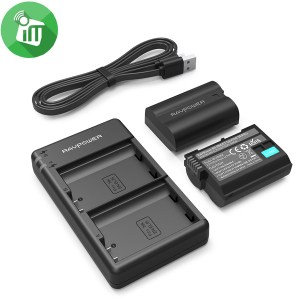 RAVPower EN-EL15 Camera Dual Battery Charger Set for Nikon