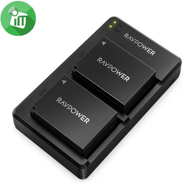 RAVPower NP-W126S Camera Dual Battery Charger Set for Fujifilm