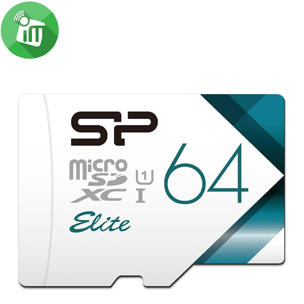 Silicon Power Elite 64GB microSDXC UHS-I Class 10 Memory Card with Adapter 85Mbs