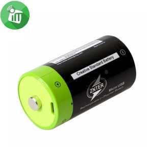 ZNTER Li-polymer 1PCS Size D Micro USB Rechargeable Battery 4000mAh-1.5V