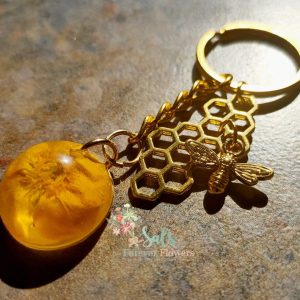 Gold bee collection Keyring