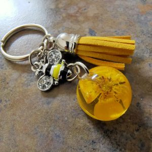 Silver bee collection Keychain