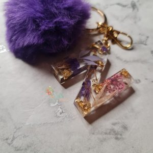 Pompom Initial Keyrings/ Bag Charms