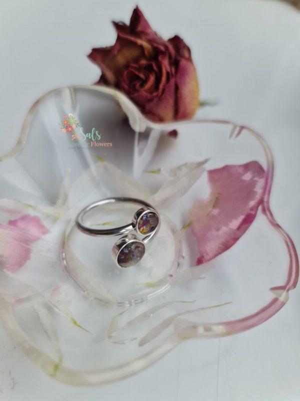 Sterling Silver Flower Preservation Ring