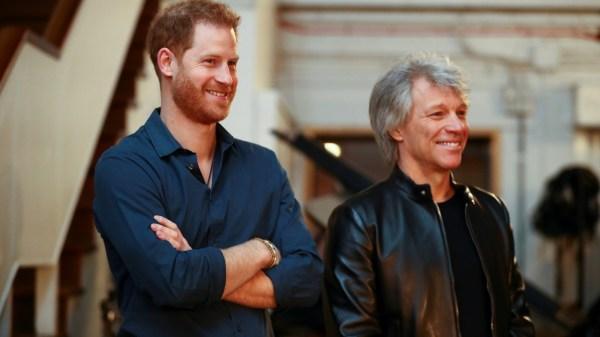 Príncipe Harry y Jon Bon Jovi