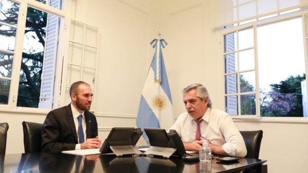 Alberto Fernández junto a Martín Guzmán dialogaron con el FMI.