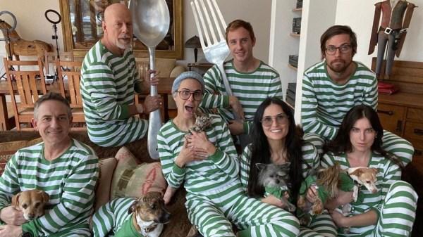 Demi Moore, Bruce Willis y sus familia