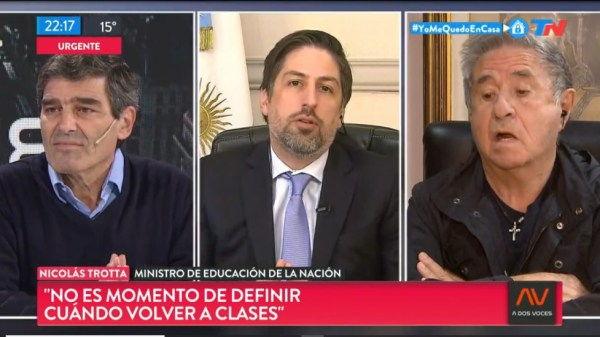 Ministro de Educación sobre las clases y la extensión de la cuarentena.