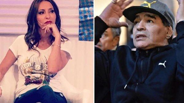 Analía Franchín y Diego Maradona