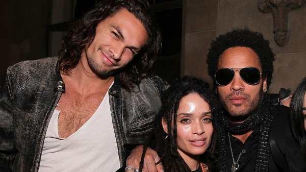 Jason Mamoa, Lisa Bonet y Lenny Kravitz