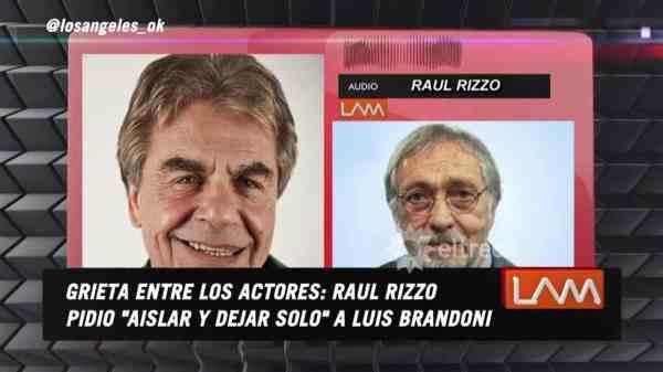 Raúl Rizzo y Luis Brandoni
