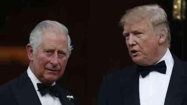 Donald Trump y el príncipe Carlos