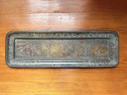 Antique Kinco brass tray No 131
