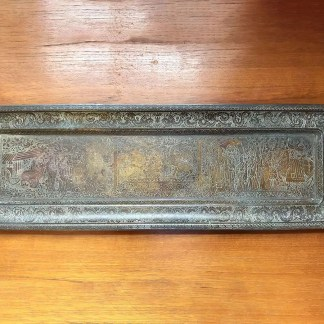 Antique Kinco brass tray No 131
