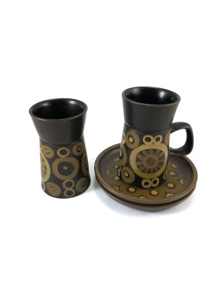 Denby Arabesque mug and plate