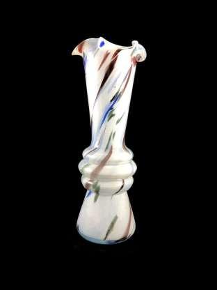 Beautiful multicoloured hand-blown Murano glass vase.