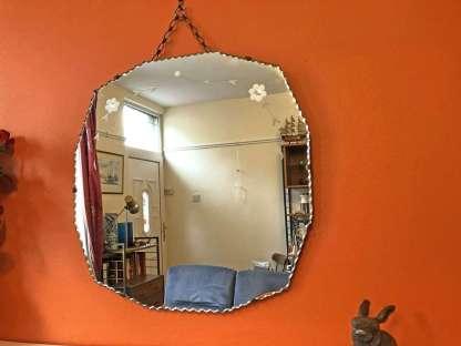 vintage twelve sided mirror