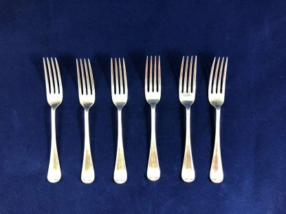 vintage Walker and Hall silver plated forks