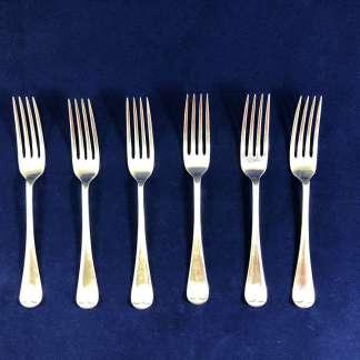 vintage Walker and Hall silver plated forks