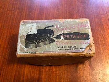 vintage travel iron