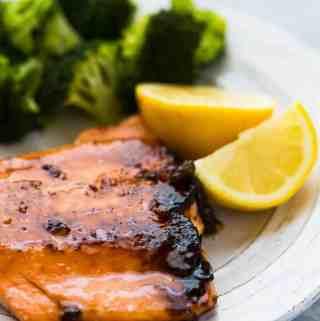 Brown Sugar Crusted Salmon | saltandbaker.com
