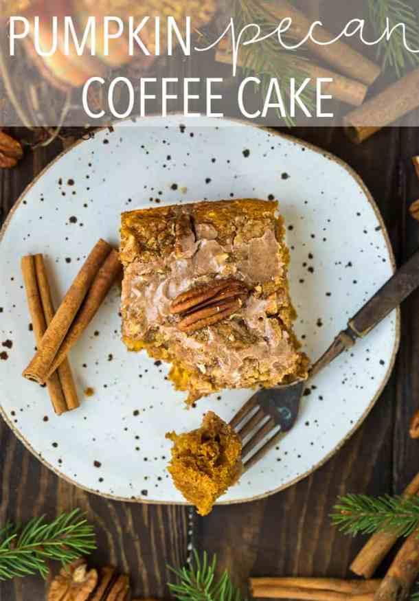 Pumpkin Spice Pecan Streusel Coffee Cake with Cinnamon Spiced Glaze | Salt & Baker