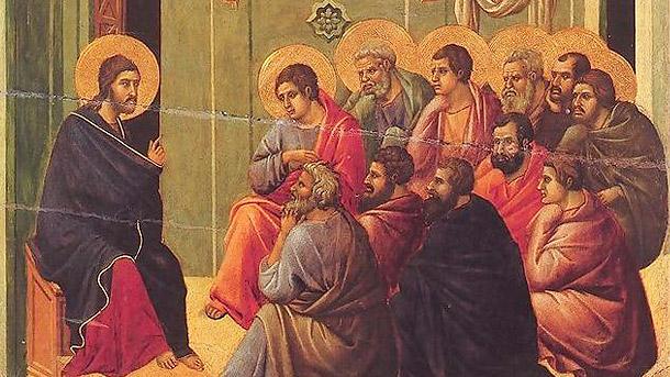 Duccio di Buon insegna, Christ Taking Leave of the Apostles