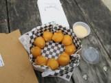 chipotle aioli sauce with potato balls