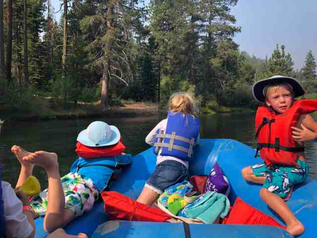 kids on the truckee river