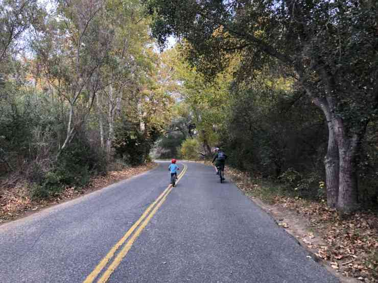 riding along the road to el capitan state beach