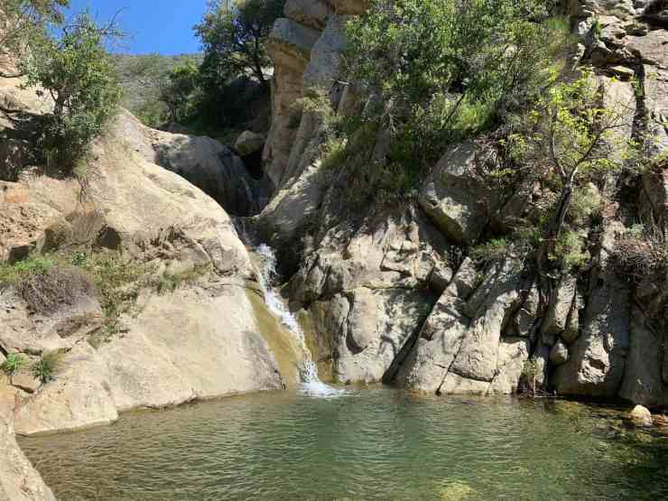 the Seven Falls trail in Santa Barbara takes you to this beautiful swimming hole in the hills of Santa Barbara