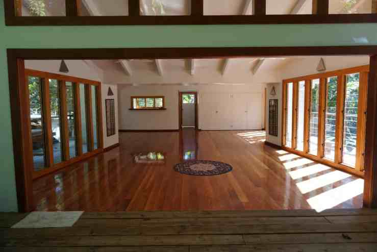 airy yoga studio at Matanivusi for when you need a break from surfing on your Fiji surf trip