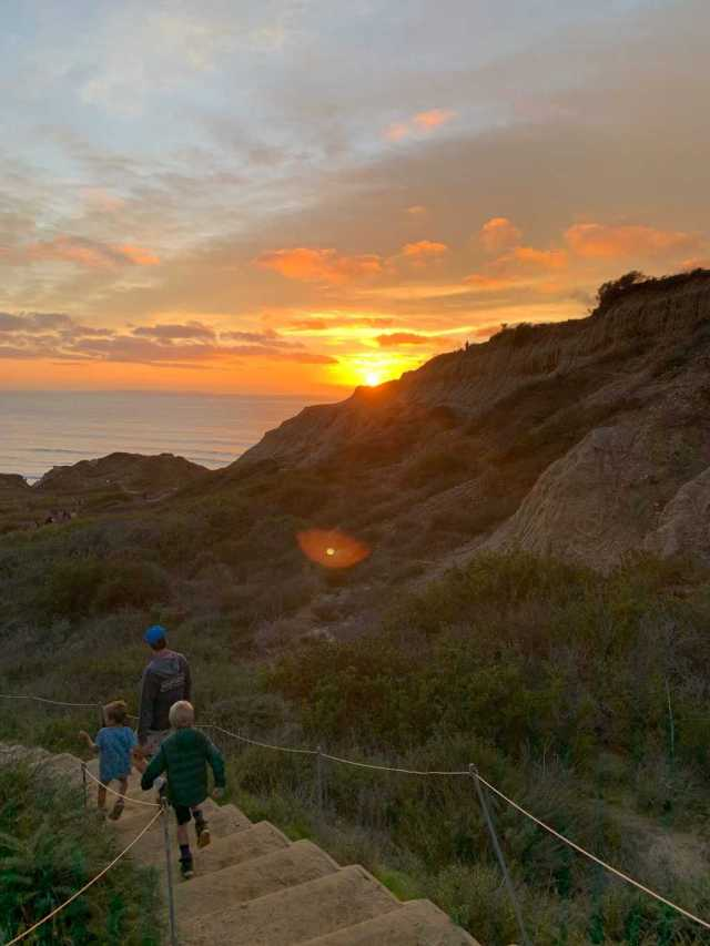 sunset at Torrey Pines State Natural Reserve
