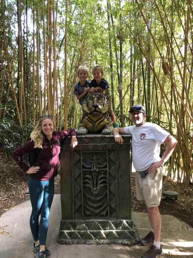 family in bamboo forest at Wild Animal Park