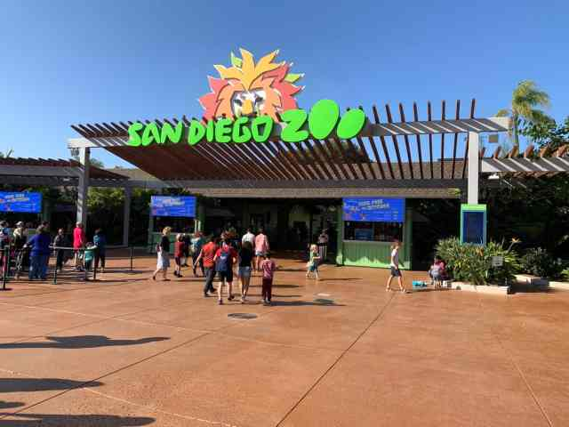 The front of the San Diego Zoo