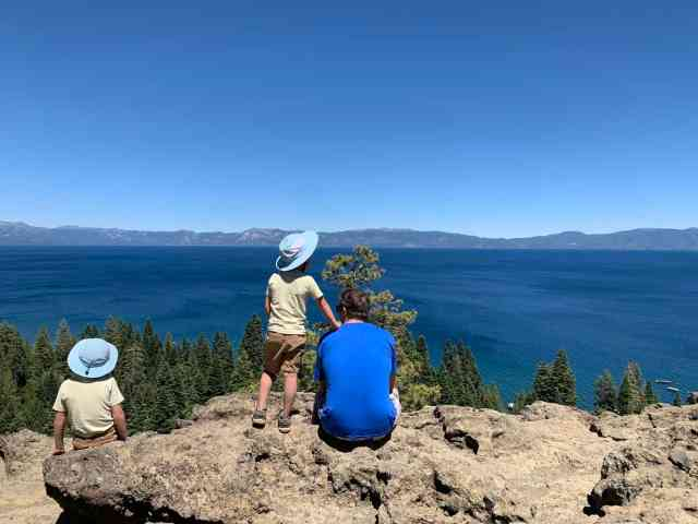 Eagle Rock on the West Shore of Lake Tahoe is an easy hike with big views