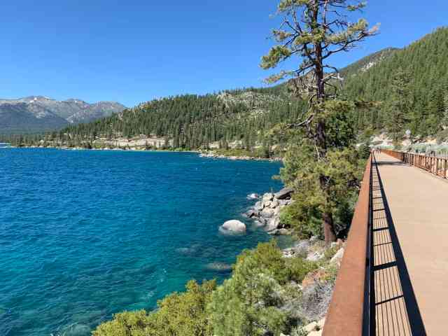 The incline village bike path. there are endless bike trails in incline village and lake tahoe