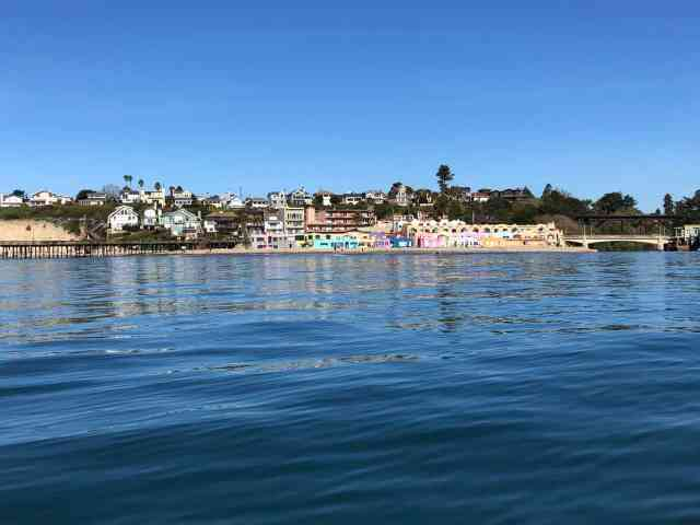 View of capitola village from the water near santa cruz ca