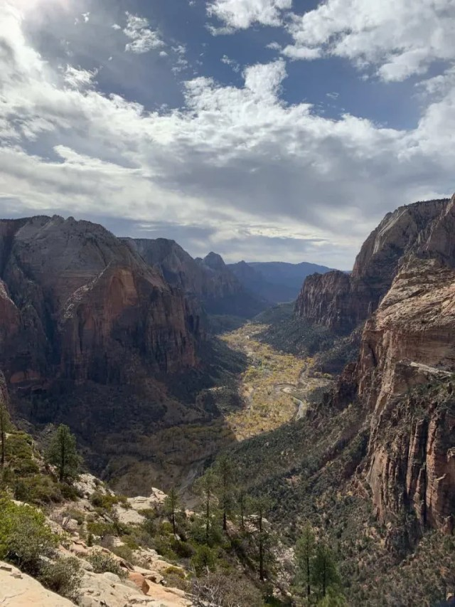 angels landing in zion road trip