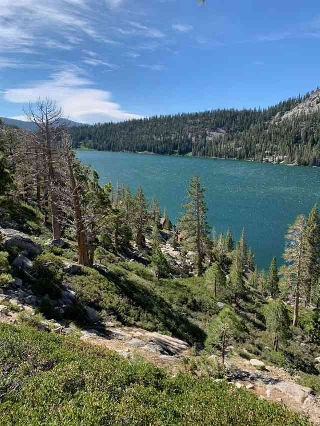 Echo Lake near South Lake Tahoe is a great hiking spot in the winter and in the summer months