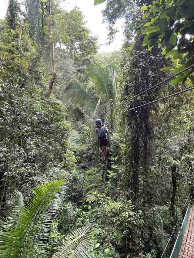the zip line at Bocawina is a great thing to do in Belize with kids